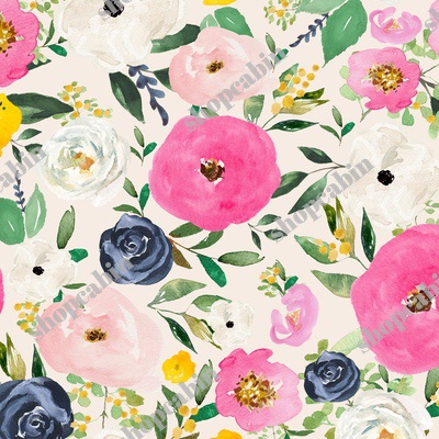 Spring Boho Western Free Falling Florals Ivory.jpg