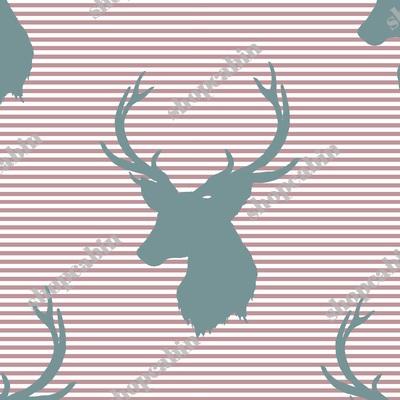 Blue Deer With Rose Stripes.jpg