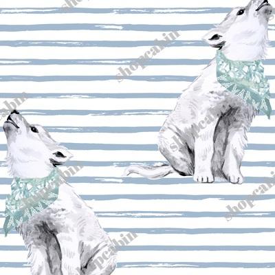 Baby Boy Wolf With Bandana And Blue Stripes.jpg