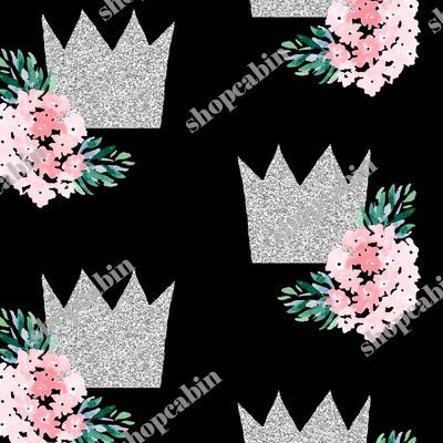 Princess Crown With Florals Black.jpg