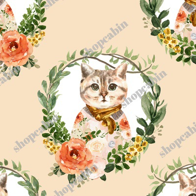 Miss Kitty Floral Wreath Peach Back.jpg