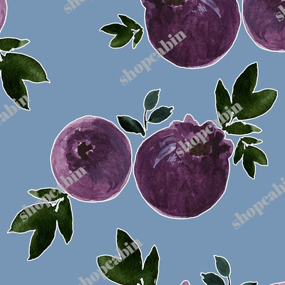 Blueberries With Blue Background.jpg