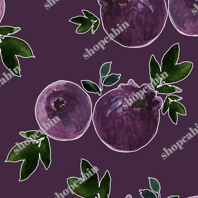 Blueberries With Eggplant Background.jpg