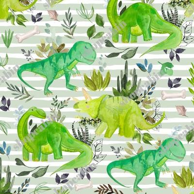 Dinosaur Land Green Stripes.jpg