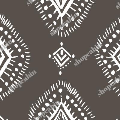 Dark Tan And White Aztec Print.jpg