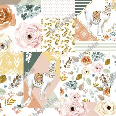 Llama Modern Quilt Pattern.jpg