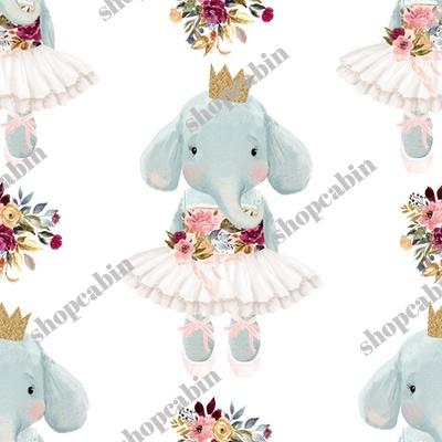 Ballerina Elephant With White Back.jpg