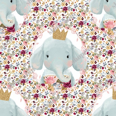 Winter Floral Elephant With Gold Crown With Mini Florals Back.jpg