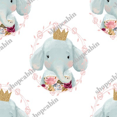 Winter Floral Elephant With Gold Crown.jpg