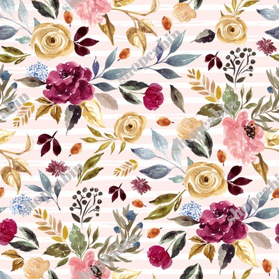 Winter Garden Florals With Pink And White Stripes.jpg