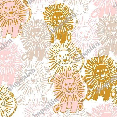 Pink Gold And Tan Lions.jpg