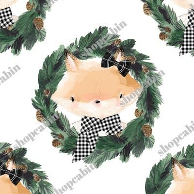 Winter Girl Fox In Plaid White.jpg