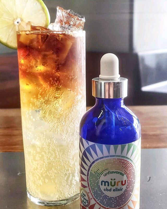 Add some 🌈 and 🙂 to your summer cocktails with our CBD elixir