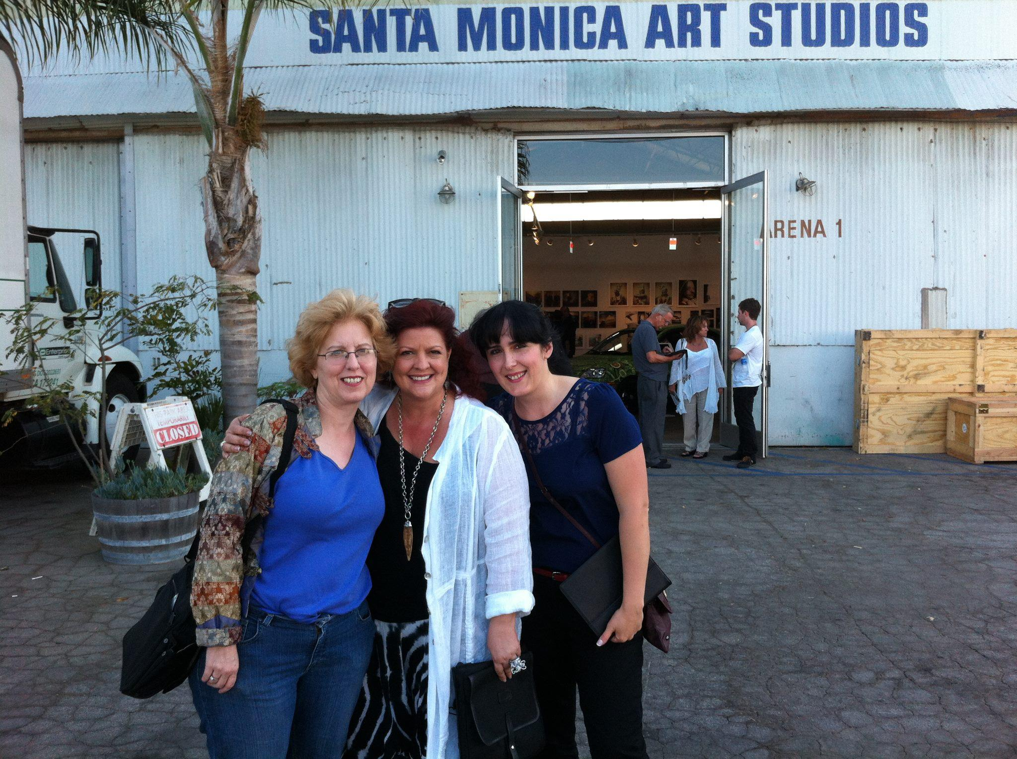 Me with two fellow iPhone artists (Marie Matthews and Sonya Sanchez Arias) on the opening night.