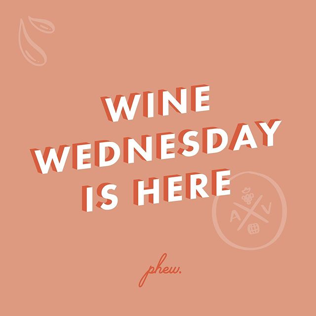 Spend your #winewednesday at AV 🍷
