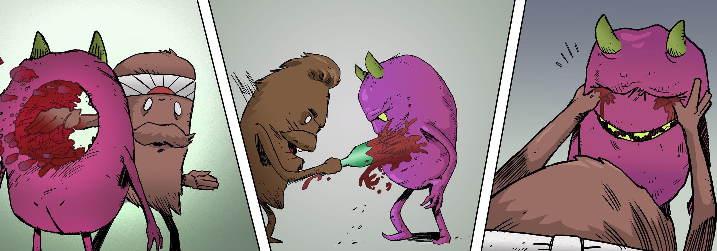 """visit    """"weirdo beardos""""    for a look at A crazy webcomic I color for Jason O. Houston-Mudd and Tristan M. Palmer."""