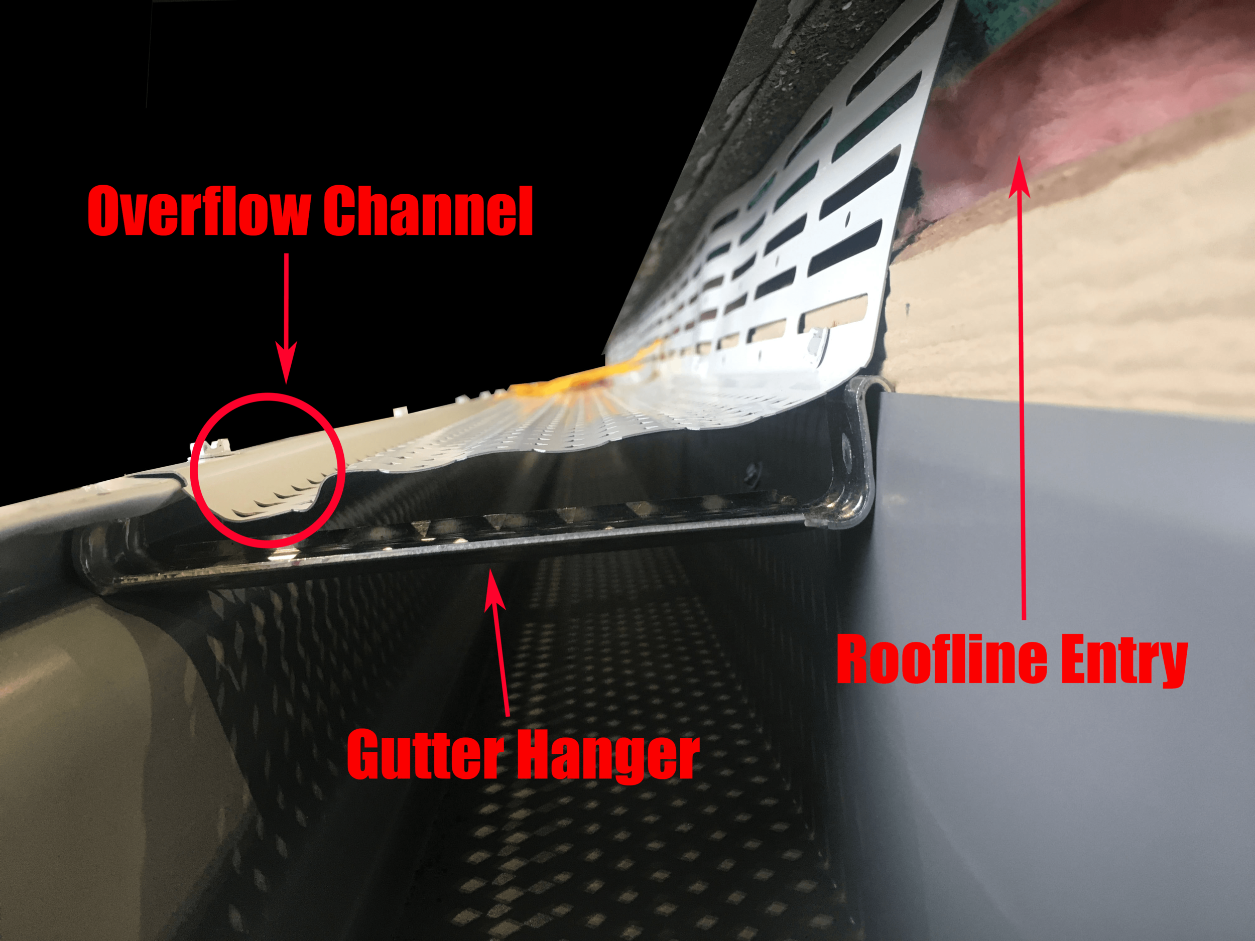 CritterProof by Leaf Supreme™ panel with product features labeled.
