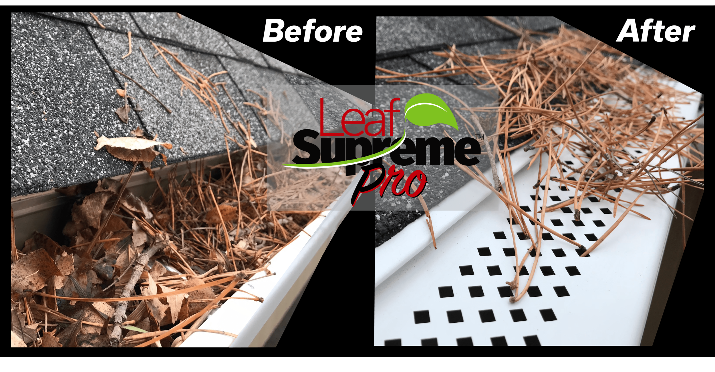 Clogged Gutter before Leaf Supreme™ Pro