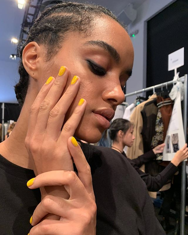 "Get your cameras ready for this New York Fashion Week feature! Quick BTS moment of @Pearnova on the @taoraywang runway this year's theme for the show was ""Wild Beauty Intractable Myth"" and they killed it using the shades Lemon Drop Logic and My Candy Rain! Shout out to nail artist @Jackiesaulsbery who made the fabulous final touches💅 ⁠⠀ #FirstandLastPR ⁠⠀ #PearNova⁠⠀ #NYFW⁠⠀ #Taoraywang"