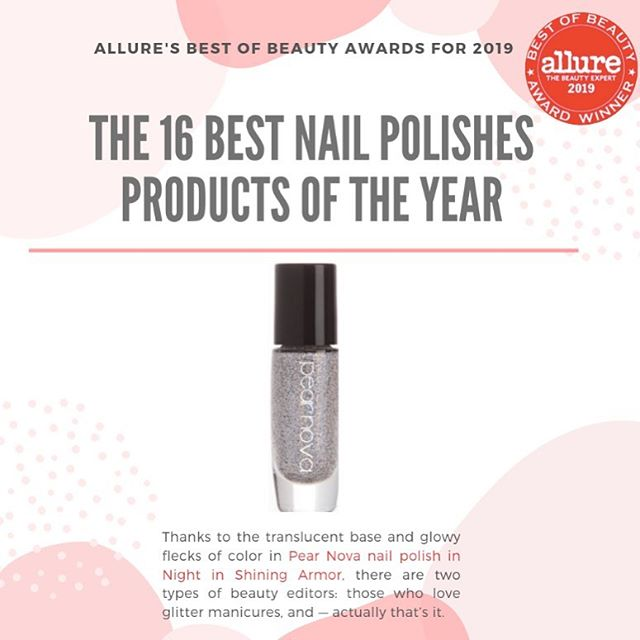 "Award-Winning has a nice ring to it right?! Congratulations to our clients @Pearnova for winning ""The BEST Nails - GLITTER NAIL POLISH:  Night in Shining Armor"" in this year's @allure Best of Beauty Awards! Our hearts are so full and happy with joy for our clients. It is with great privilege to be a part of a brands journey and it is something we will always be thankful for.  So many reasons why We ❤️ PR!  #FirstandLastPR #BeautyPR #PublicRelations #Allure #AllureBestofBeauty #PearNova"