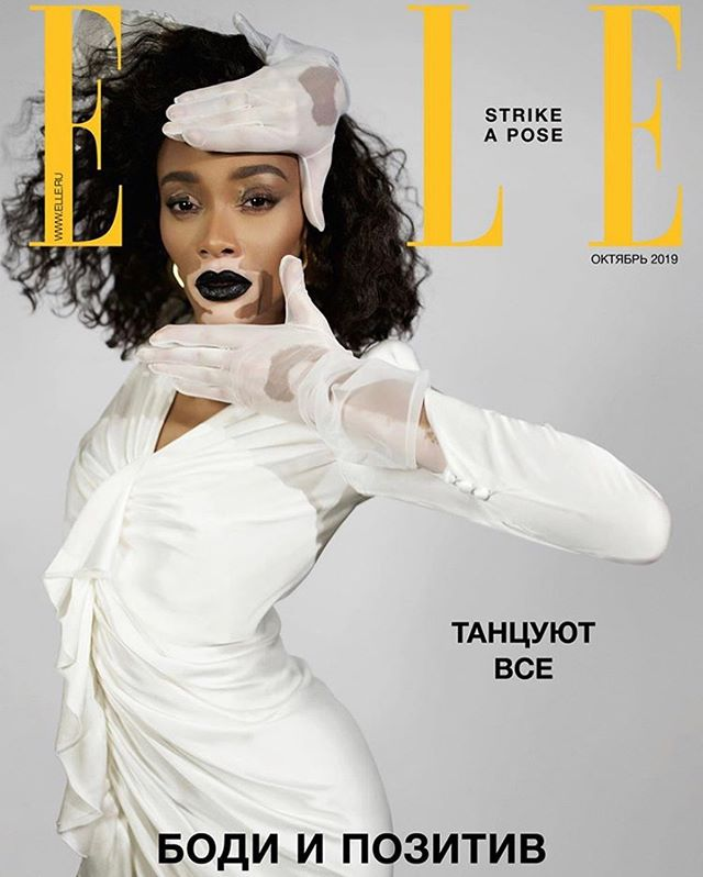 Category is: FAB Loving this photo from @winnieharlow as she strikes a pose for her @elle_Russia cover. ⠀ Shot by the talented @JacquesBurga and hair by @hoshounkpatin ⠀ ⠀ #ELLE ⠀ #ELLERussia⠀ #WinnieHarlow