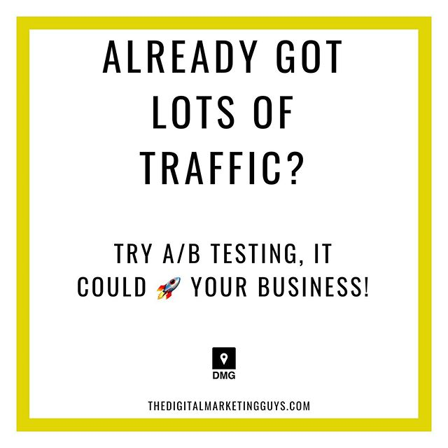 If you're already getting plenty of traffic but not seeing much conversions or any actions being take then you should try split testing your content.  It could make the world of difference!  Are you split test?! If you want more tips like this get in touch: Follow @digitalmarketingguys  Thedigitalmarketingguys.com . . . . . #makemoney #makemoneyonline #makingmoney #digital #digitalnomad #digitalnomads #startups #businessowner #startup #businesstips #businessowners #entrepreneurs #hustle #hustleharder #buildanempire #hustlers #marketing #socialmediamarketing #design #sales #selling #income #incometips #incometip #smallbusinessowner #onlinemarketing #digitalmarketing⁣⠀⠀