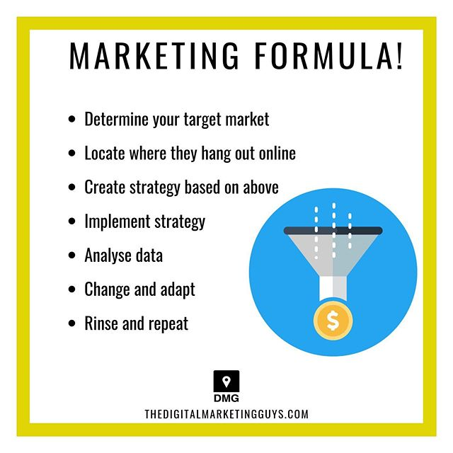 Here's the magic marketing formulae... What us to help you create your own digital marketing funnel? Check out our last post. #smallbusiness #winning . . . . . #makemoney #makemoneyonline #makingmoney #digital #digitalnomad #digitalnomads #startups #businessowner #startup #businesstips #businessowners #entrepreneurs #hustle #hustleharder #buildanempire #hustlers #marketing #socialmediamarketing #design #sales #selling #income #incometips #incometip #smallbusinessowner #onlinemarketing #digitalmarketing⁣