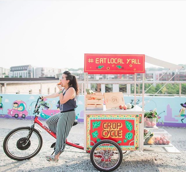 Be sure to follow the cutest way to host a farmers market pop-up by @cropcycleatl. - Our guests love being able to connect with creative and local businesses in the Atlanta areas, and this, is by far one of the most unique pop-ups we've seen! - Hurry and book your stay, they're always on the move!