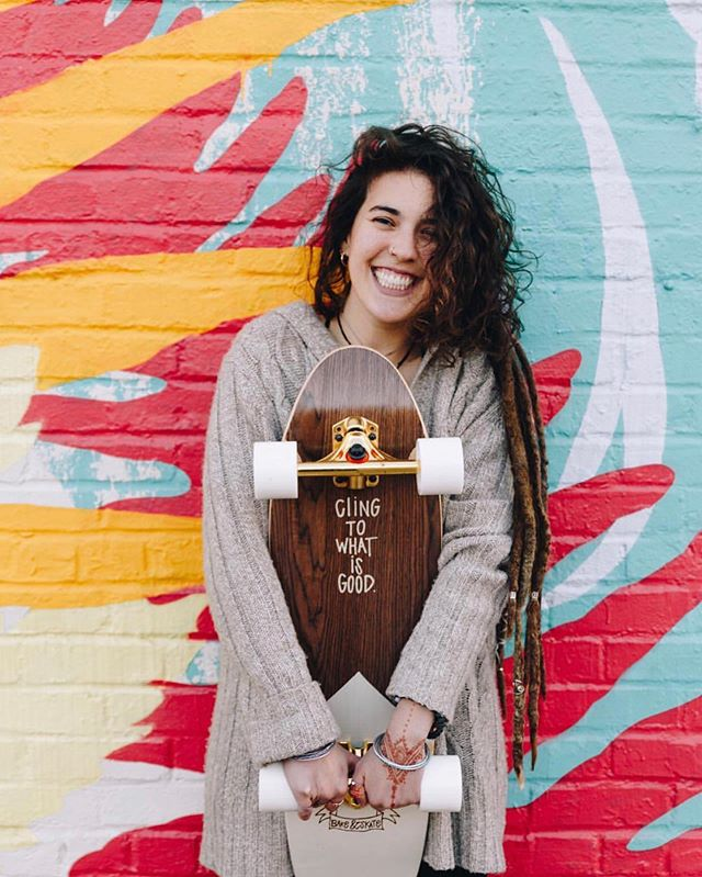 "We love love love local businesses and today, we're shouting out this chick! - If you're looking for positive vibes spread all throughout your summer gear head over to @bakeandskate! - @eliseakin brings positive words and Jesus to the city of Atlanta through custom designed long boards, shirts, and even baked goods! - ""It takes $0 to be a nice person"" - @bakeandskate"