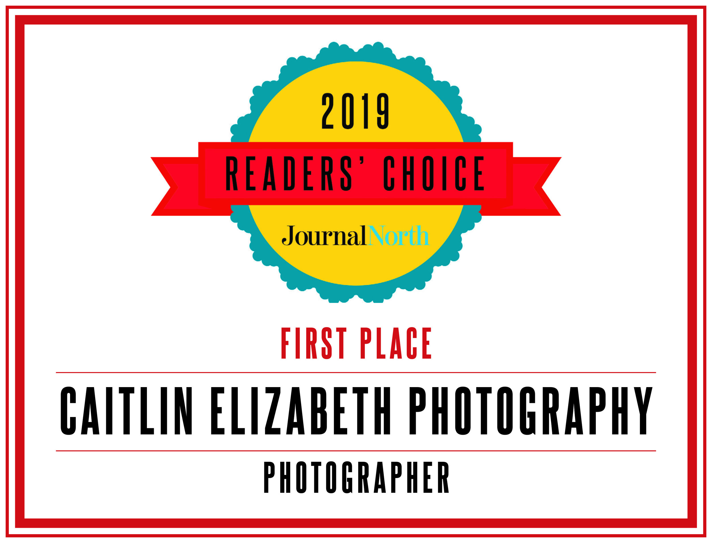 "Caitlin Elizabeth Photography Awarded First Place ""Best Photographer"" in the Albuquerque Journal North Readers' Choice Awards"