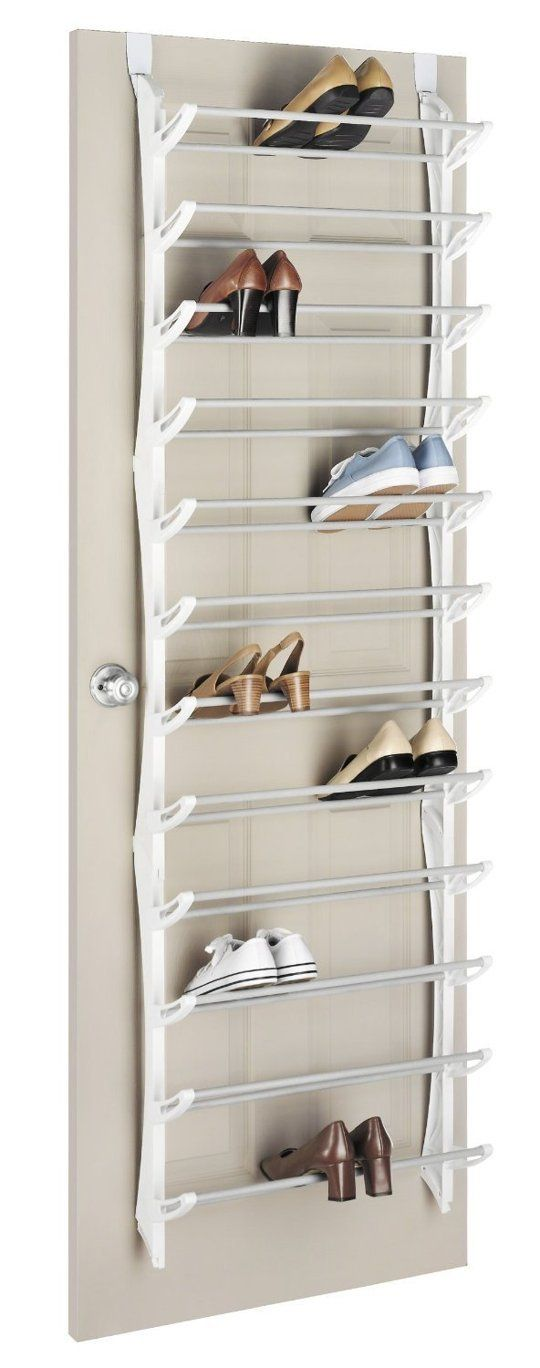 Shoe storage for an organized closet