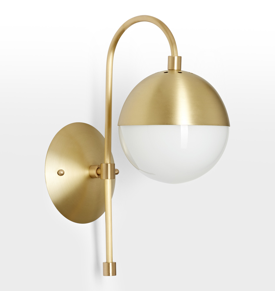 The Cedar and Moss Sconce combines modern elegance with mid-century forms.