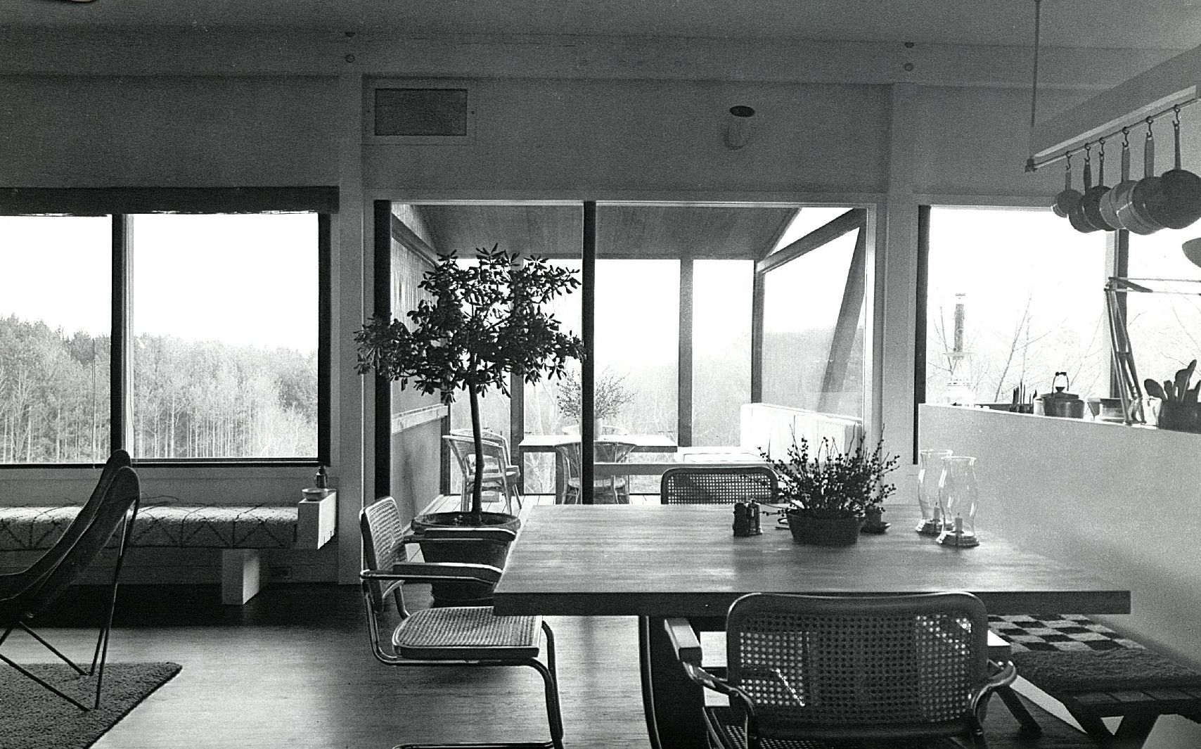 The Cesca Chair by Marcel Breuer in a dining room