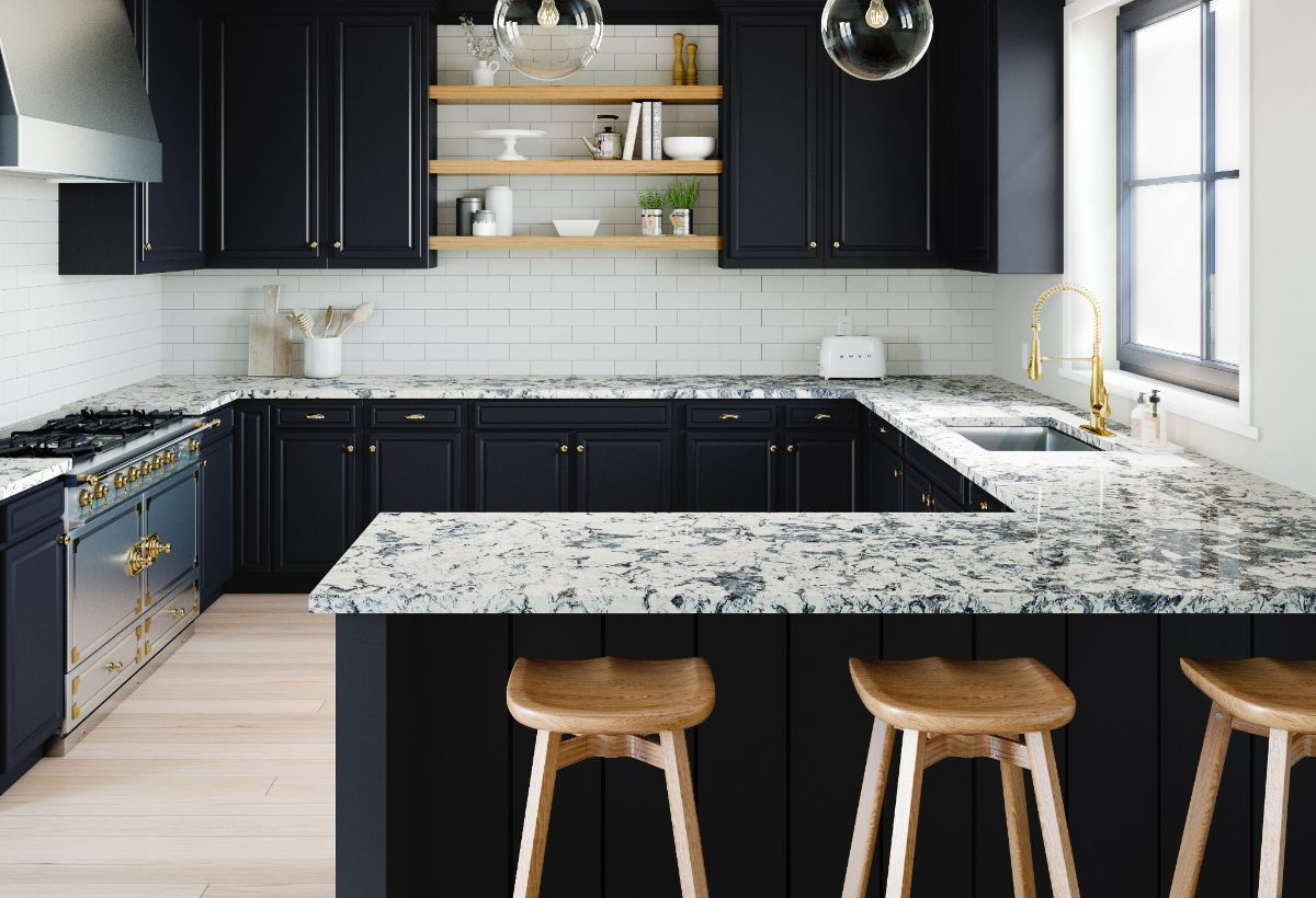 Quartz comes in a variety of colors, textures, and patterns.
