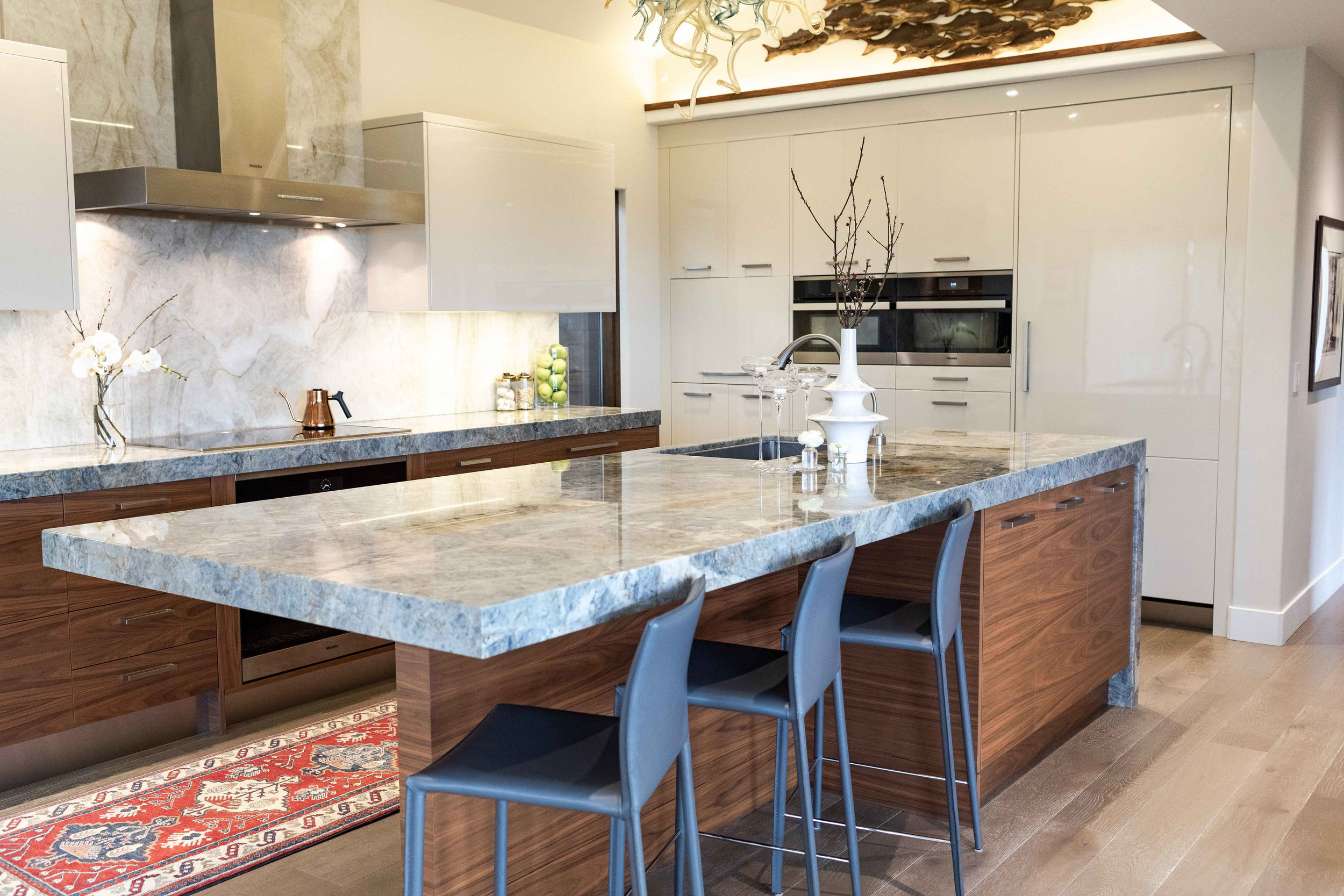 Granite is a dynamic stone that can add interest to your space.