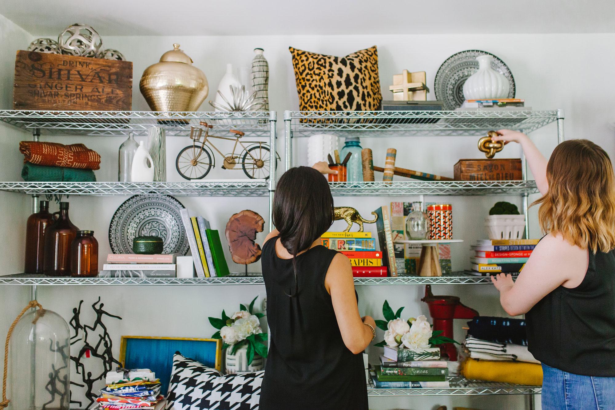 Verena Dalati Salmé and Victoria Lindbergh in Yellow Bungalow Studio's Inventory Room