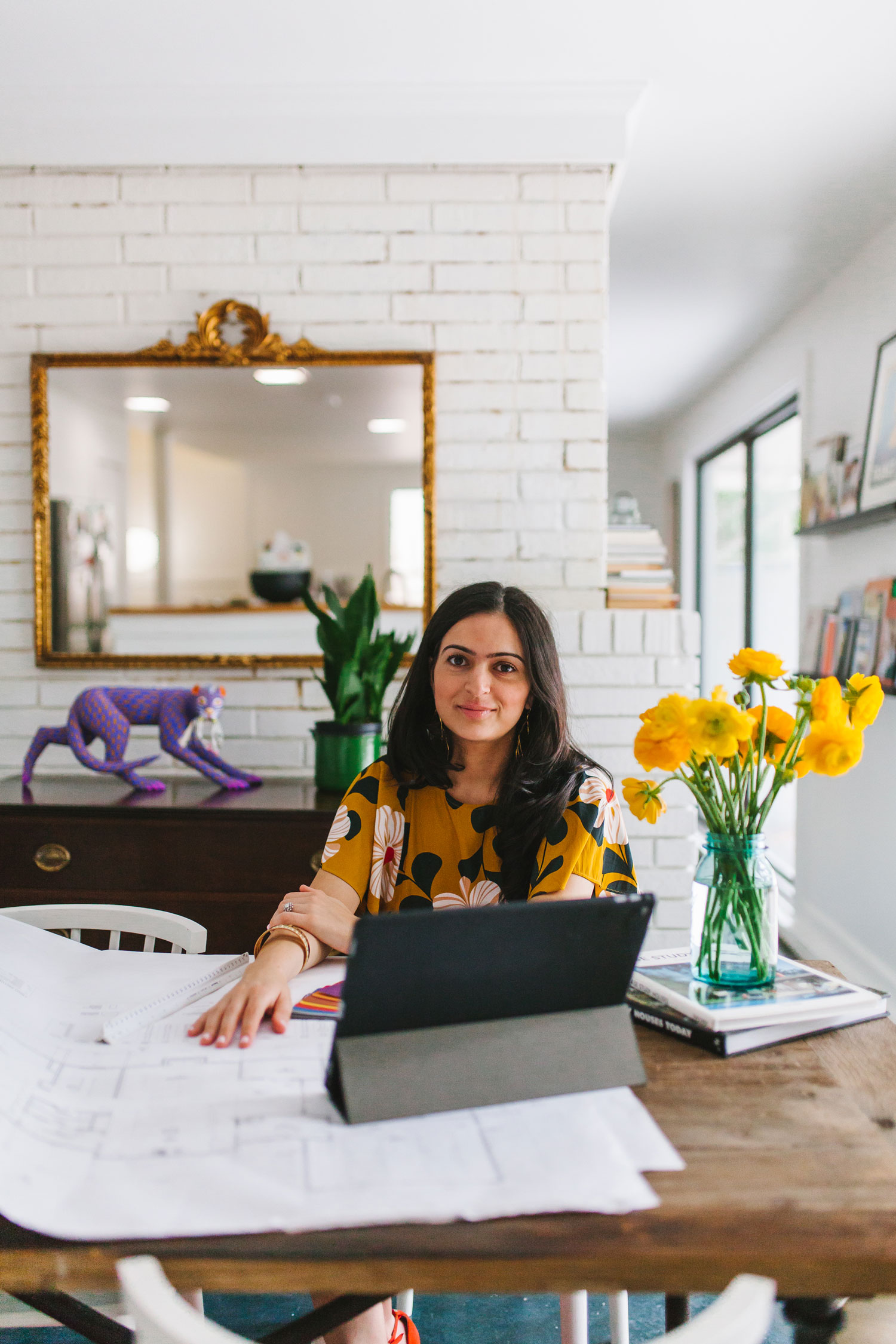 Verena Dalati Salmé in Yellow Bungalow's office