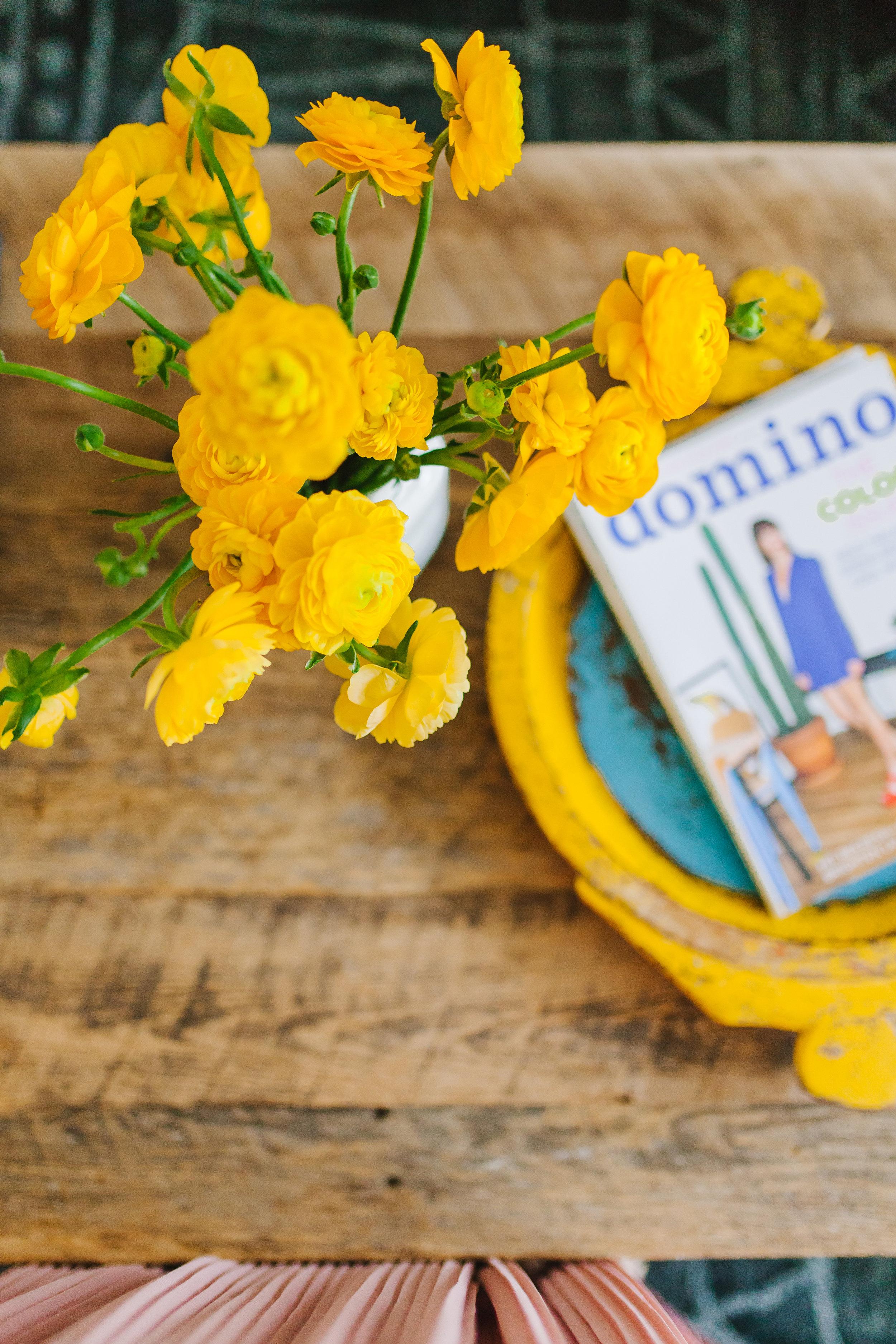 Yellow Peonies at Yellow Bungalow Interior Design Studio