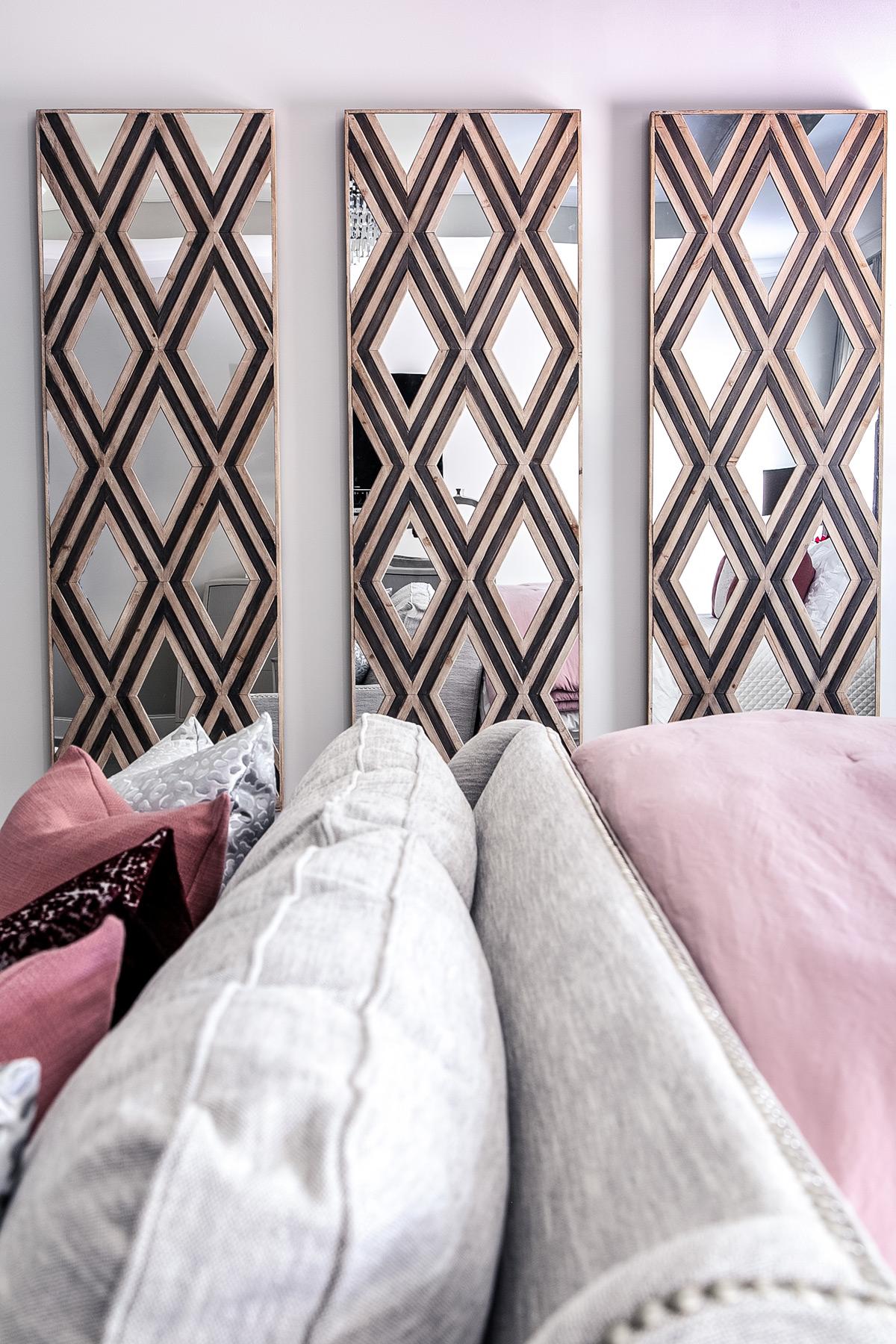 Uttermost Tahira Wall Mirror in master bedroom