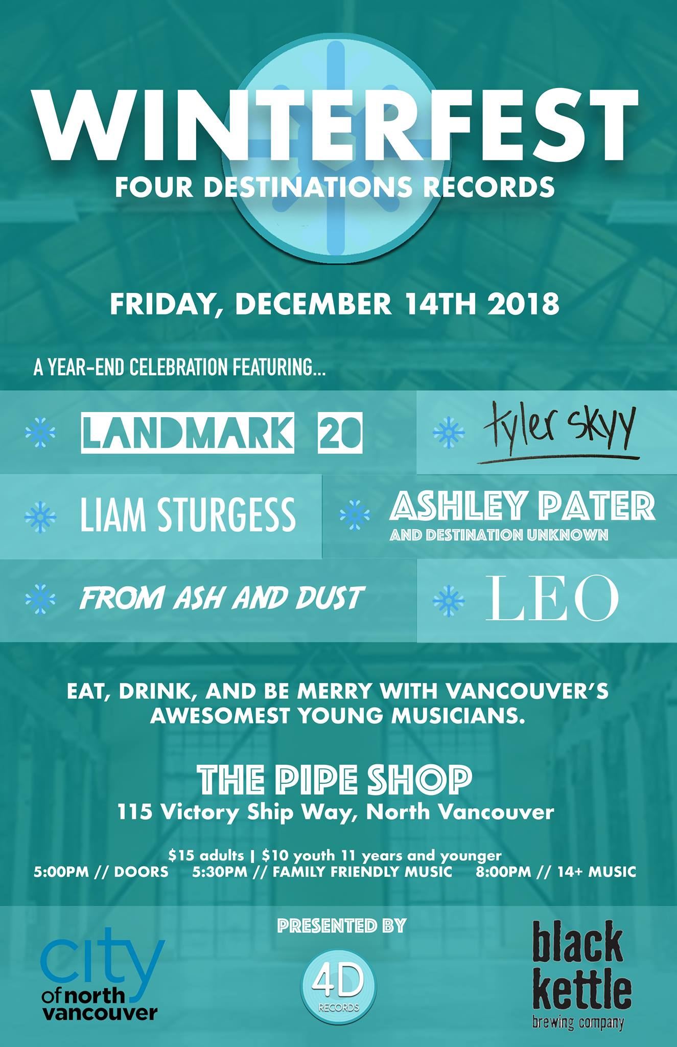 Winterfest - December 2018, The Pipe Shop, North Vancouver BC