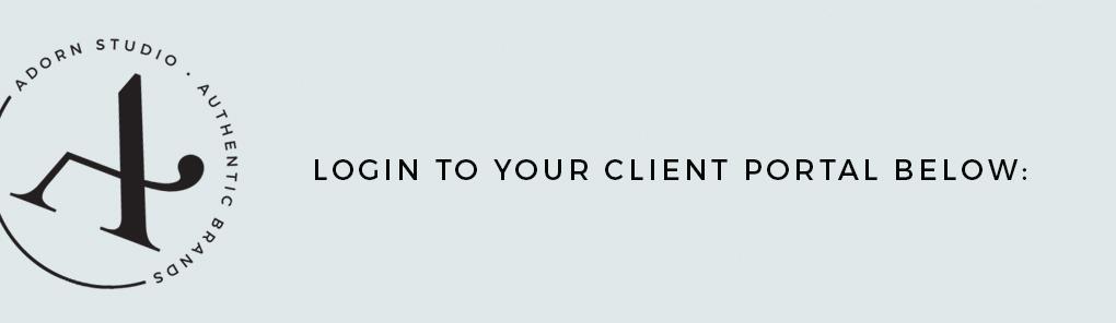 Adorn Studio   Client Portal Login