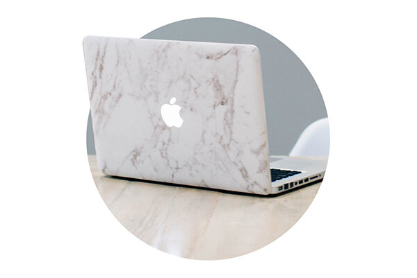Adorn Studio Services | Mac Computer and WorkSpace