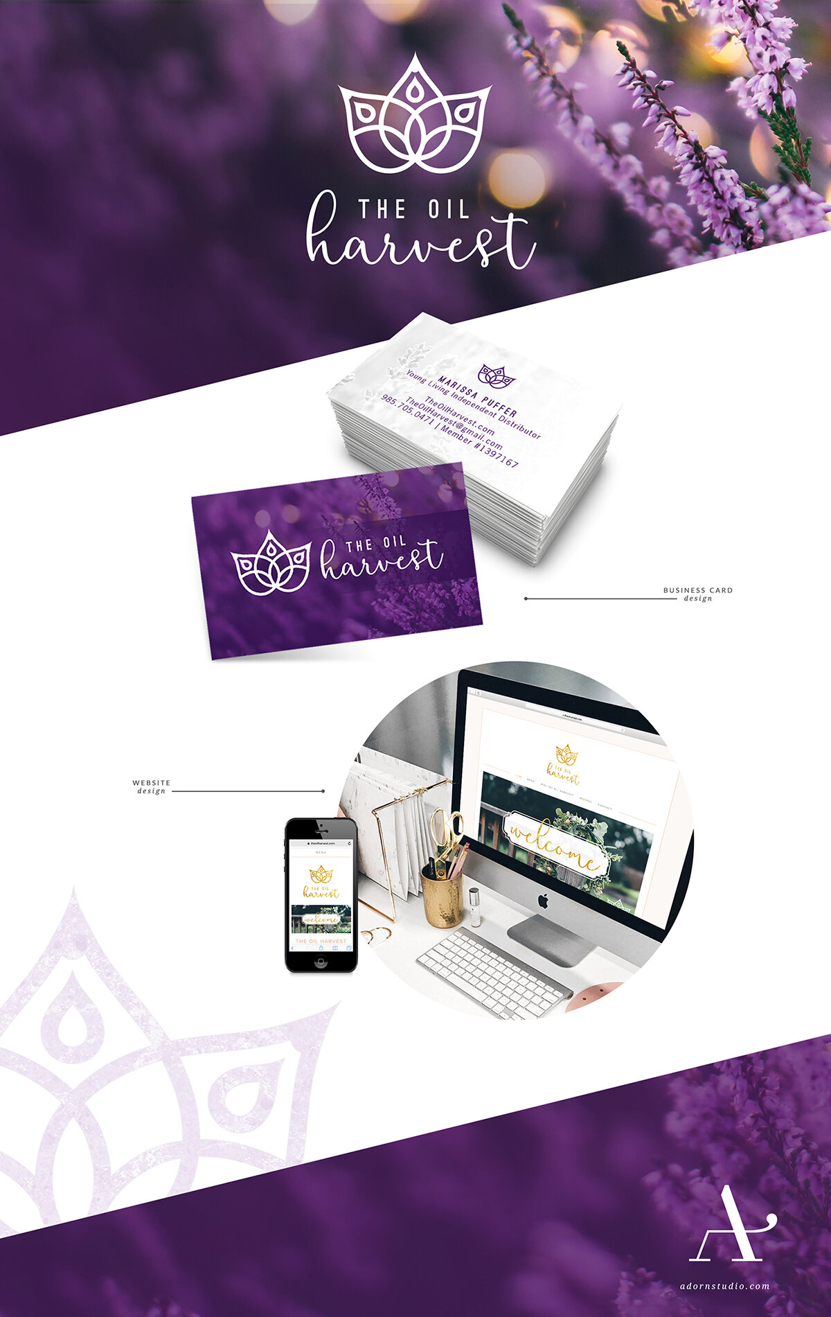 Adorn Studio   Innovative and Minimalist Graphic Design   The Oil Harvest Branding   Young Living Essential Oil