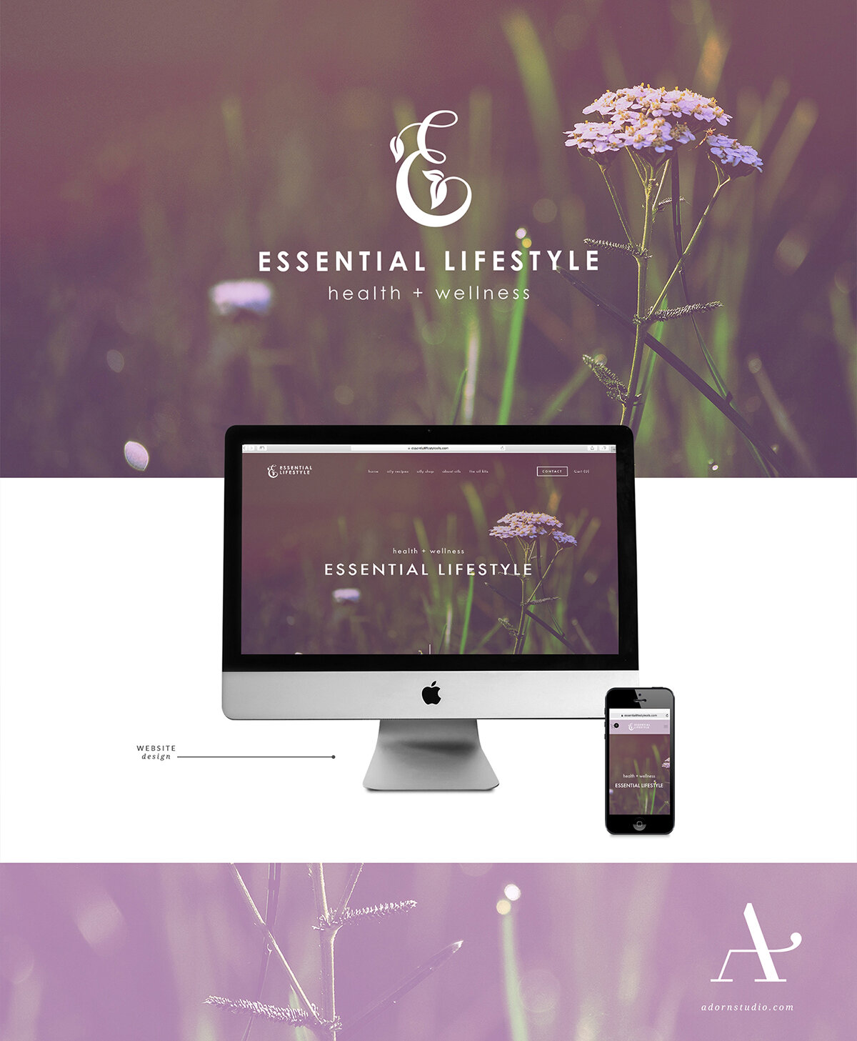Adorn Studio | Innovative and Minimalist Graphic Design | Essential Lifestyle Branding | Young Living Essential Oils