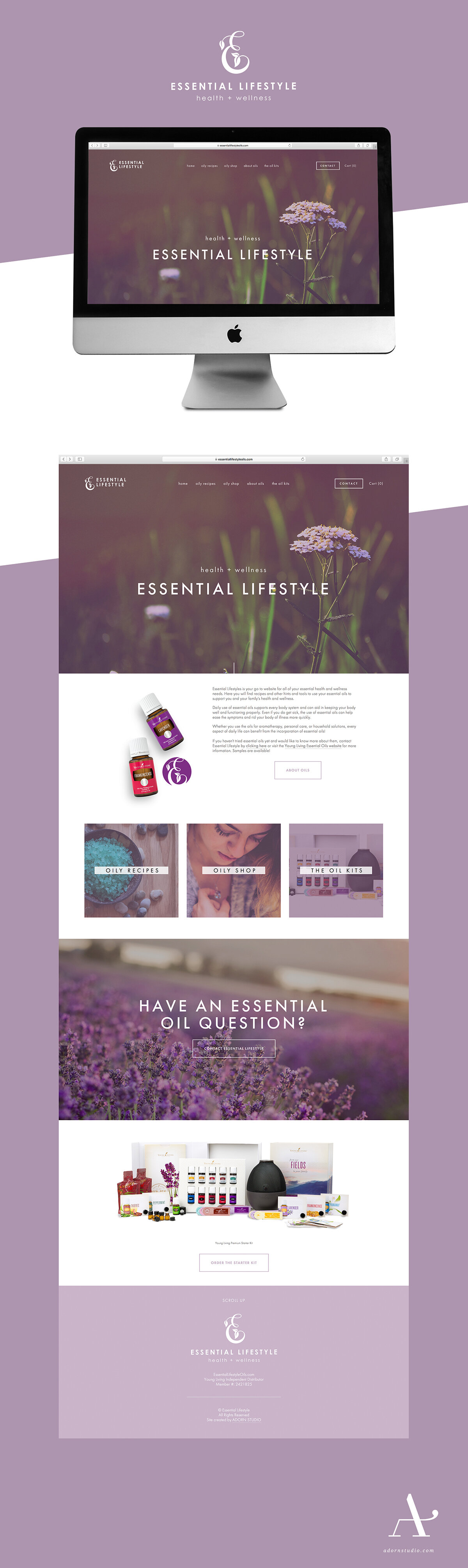Adorn Studio | Responsive Web Design | Essential Lifestyle | Young Living Essential Oils