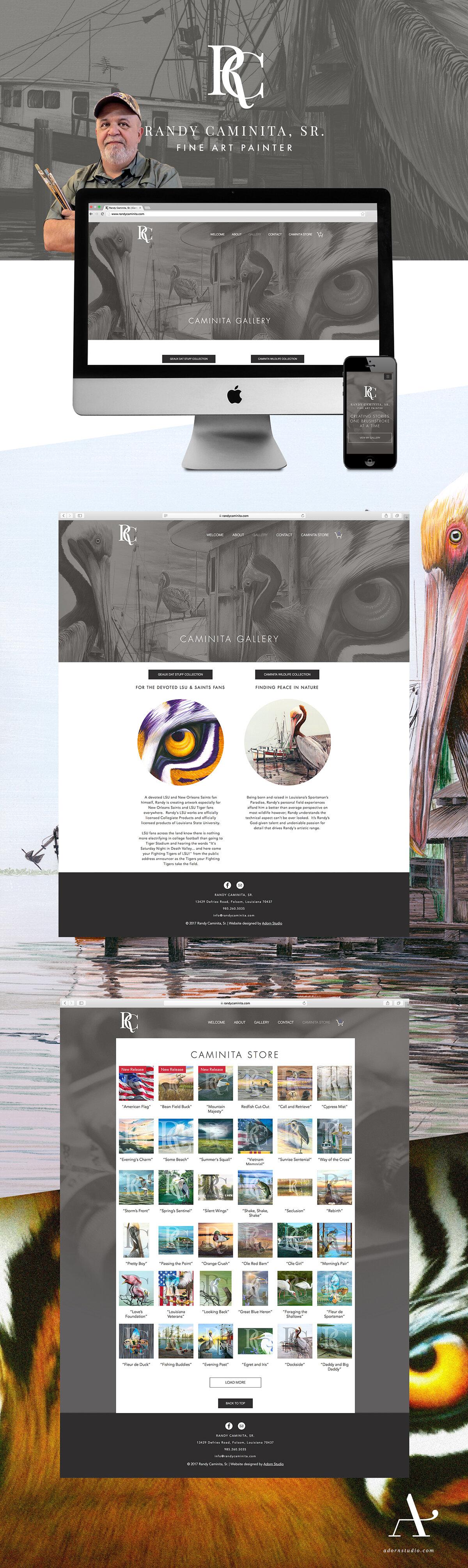 Adorn Studio | Responsive Web Design | Randy Caminita, Sr. | Fine Art Painter