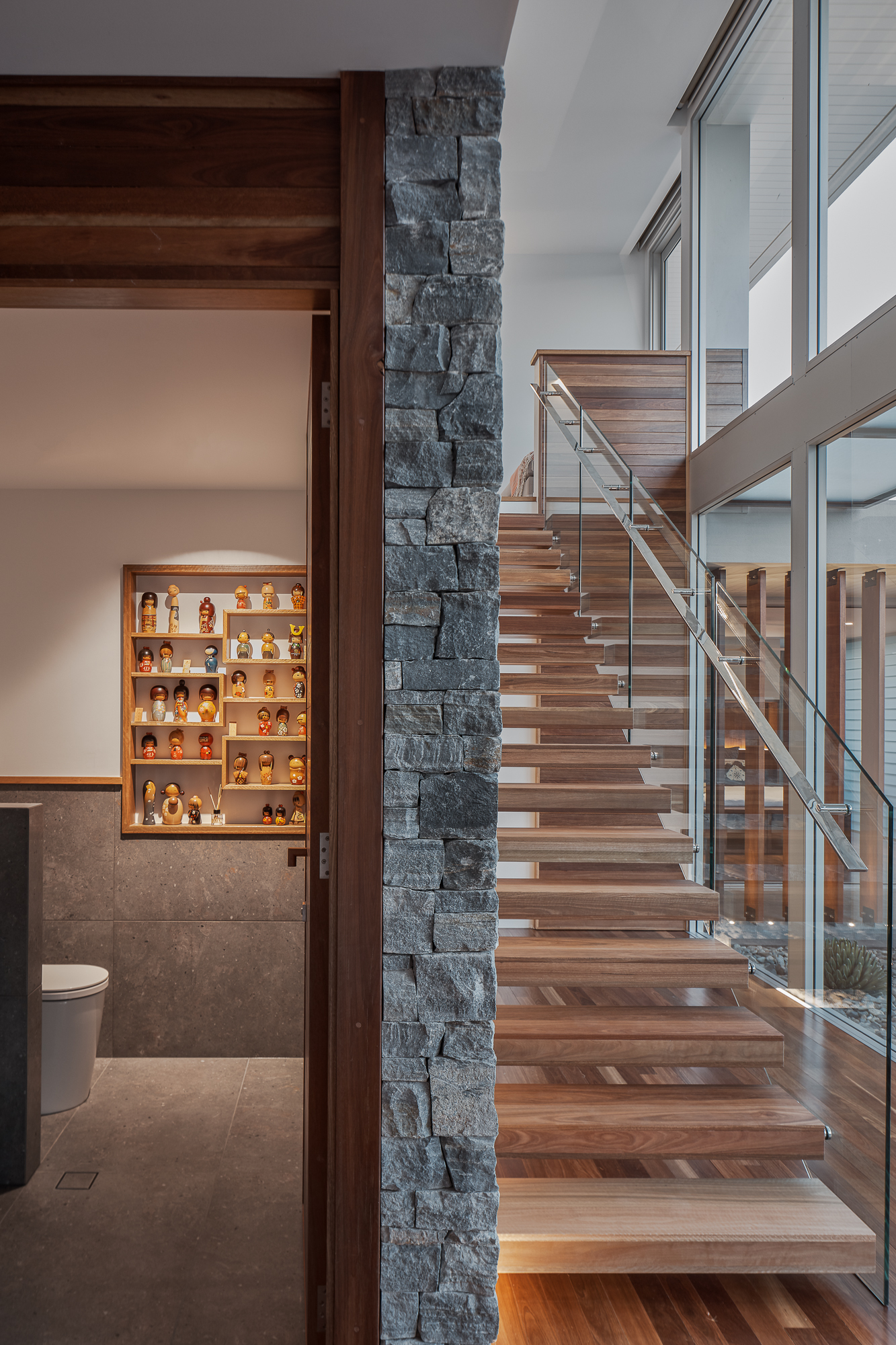 Echo Lane Stair wall by Create Architecture