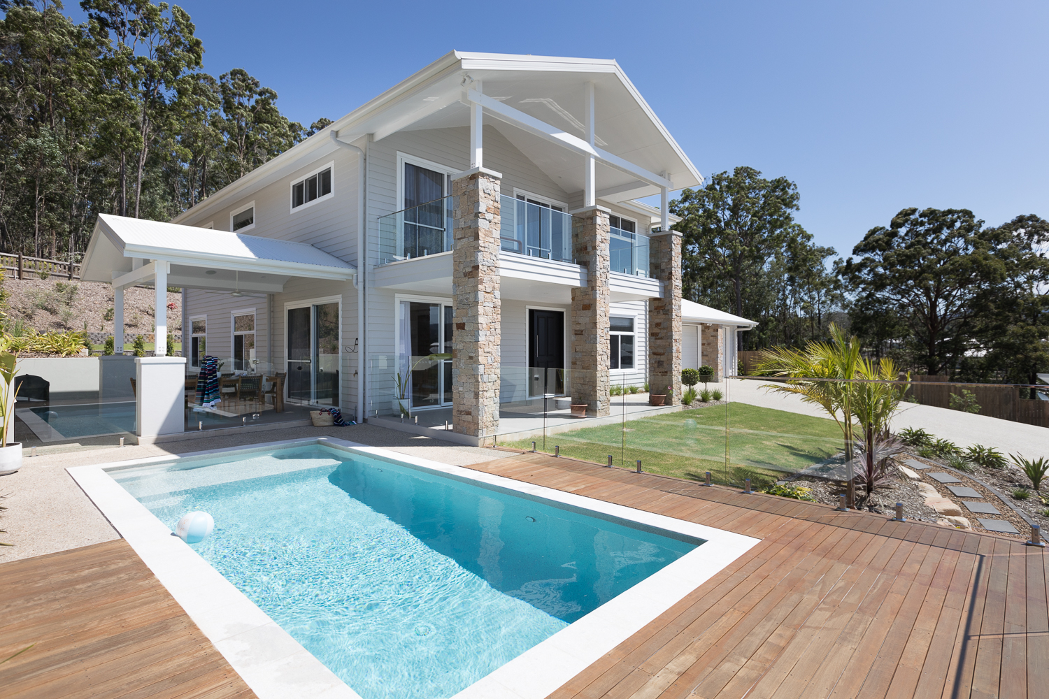 Gold Coast Hinterland - Pool Area front By Fluxe Architecture