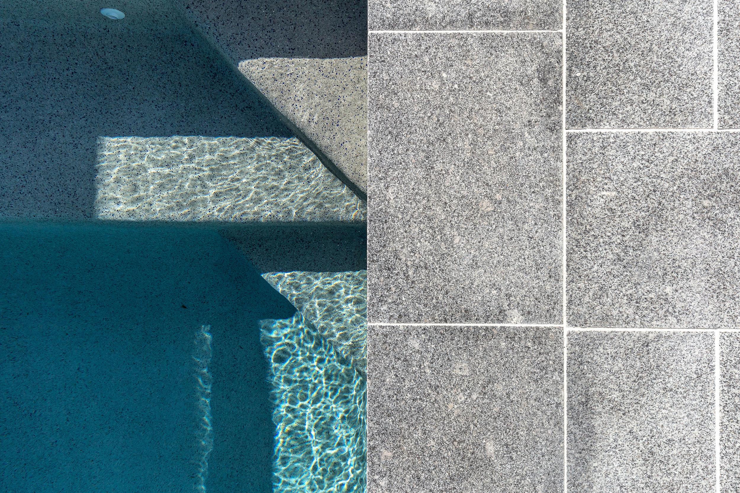 Poolside: Salt & Pepper Granite flooring