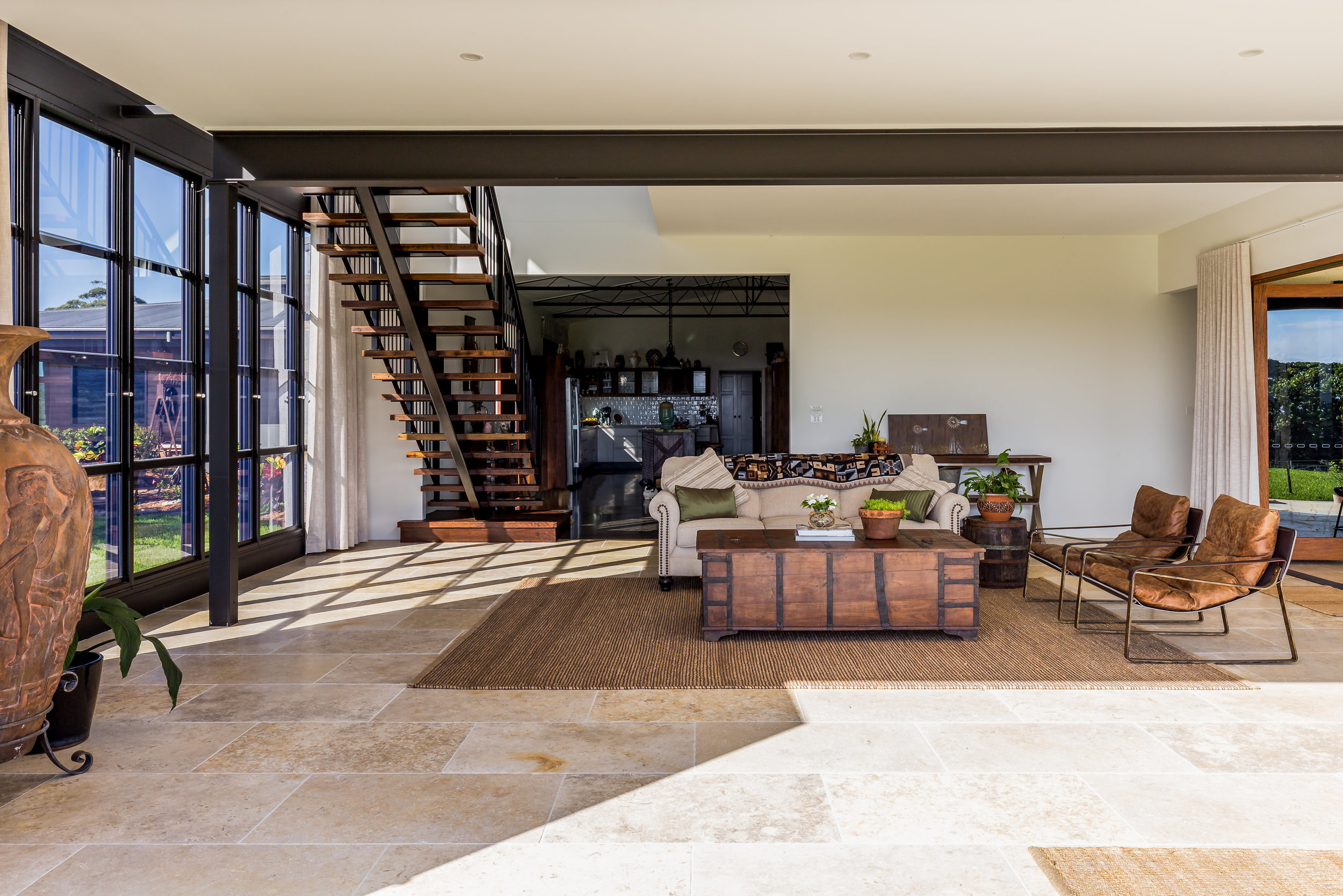 TUNISIAN GOLD LIMESTONE FLOORING    AT OUR CUDGEN HOMESTEAD PROJECT BY    ARCO DESIGNS    | PHOTO BY    TIM CASAGRANDE